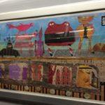 NY地下鉄の中に